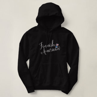 Finnish American Entwinted Hearts Hoodie