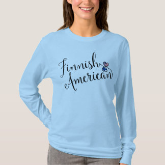 Finnish American Entwinted Hearts Tee Shirt