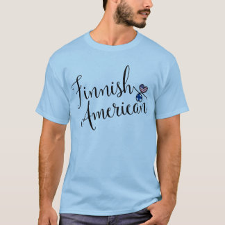 Finnish American Entwinted Hearts Tee Shirt