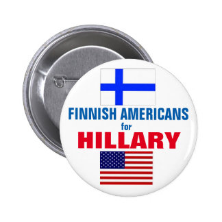 Finnish Americans for Hillary 2016 2 Inch Round Button
