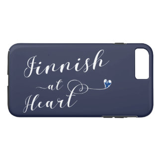 Finnish At Heart Mobile Phone Case, Finland iPhone 8 Plus/7 Plus Case