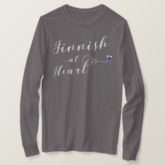 Finnish At Heart Tee Shirt, Finland