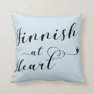 Finnish At Heart Throw Cushion, Finland Throw Pillow