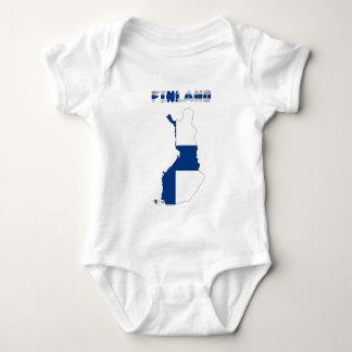Finnish country flag baby bodysuit