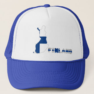 Finnish country flag trucker hat