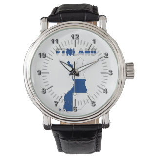 Finnish country flag watch