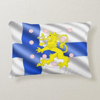 Finnish flag accent pillow