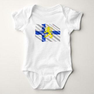 Finnish flag baby bodysuit