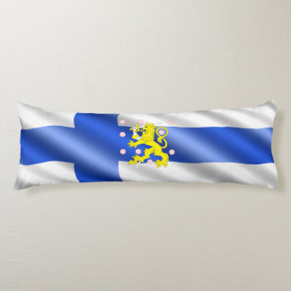 Finnish flag body pillow