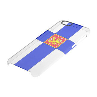 Finnish flag clear iPhone 6/6S case