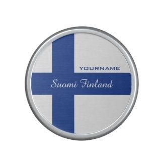 Finnish Flag custom bluetooth speaker