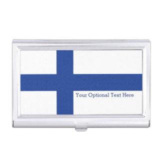 Finnish Flag custom business card holder