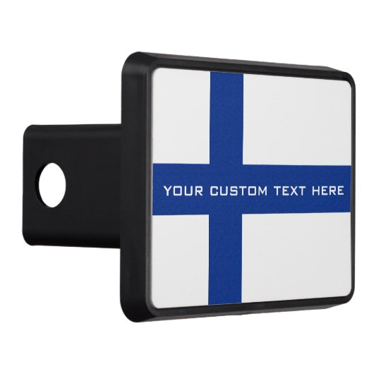 Finnish Flag custom hitch cover