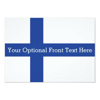 Finnish Flag custom invitations