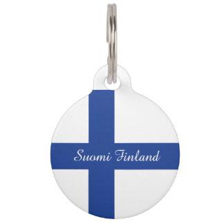 Finnish Flag custom pet tags