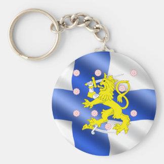 Finnish flag keychain