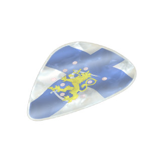 Finnish flag pearl celluloid guitar pick