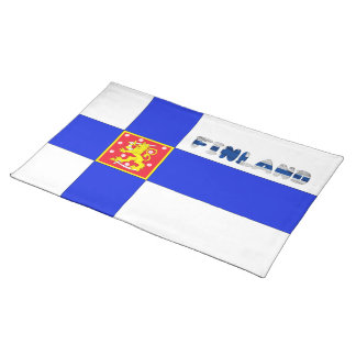 Finnish flag placemat