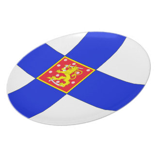 Finnish flag plate