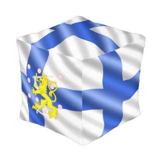 Finnish flag pouf