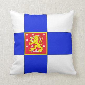 Finnish flag throw pillow