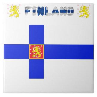 Finnish flag tile
