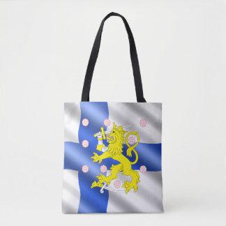 Finnish flag tote bag