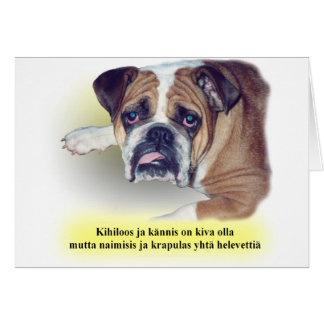 Finnish hangover bulldog card
