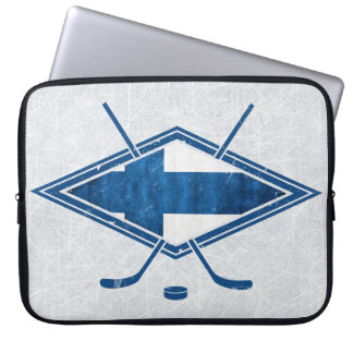 Finnish Hockey Flag Logo Suomi Laptop Cover