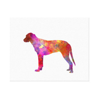 Finnish Hound in watercolor Canvas Print
