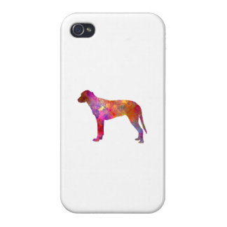 Finnish Hound in watercolor iPhone 4 Case