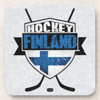 Finnish Ice Hockey Shield Suomi Coaster Set