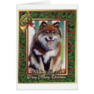 Finnish Laphund Dog Blank Christmas Card