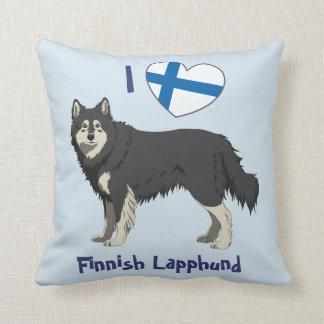 Finnish Lapphund (black white) pillow