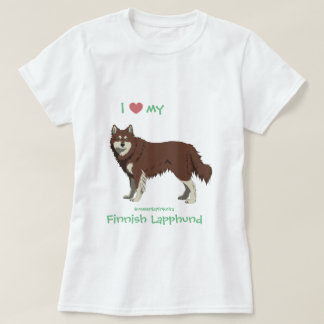Finnish Lapphund brown and white shirt -