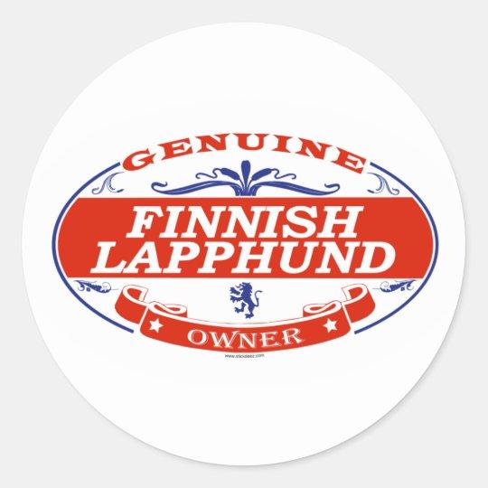 Finnish Lapphund Classic Round Sticker