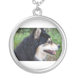 finnish-lapphund-.png silver plated necklace
