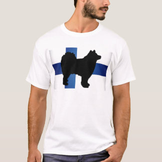 finnish lapphund silhouette flag T-Shirt