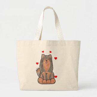 Finnish Lapphund Valentine Ears Bags