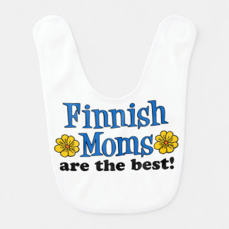 Finnish Moms Are The Best baby bib