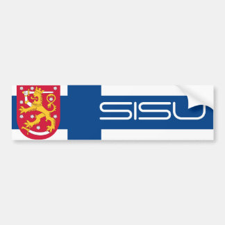 Finnish Sisu/Coat of Arms Bumper Sticker