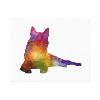 Finnish Spitz 01 in watercolor Canvas Print