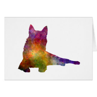Finnish Spitz 01 in watercolor Card