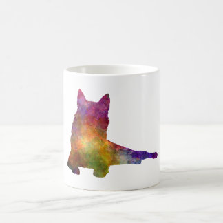 Finnish Spitz 01 in watercolor Coffee Mug