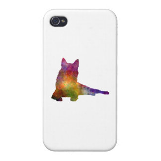 Finnish Spitz 01 in watercolor Cover For iPhone 4
