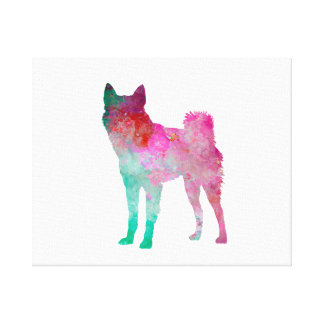 Finnish Spitz 02 in watercolor Canvas Print