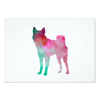 Finnish Spitz 02 in watercolor Card