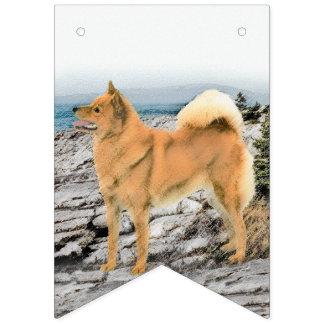 Finnish Spitz at Seashore Painting - Dog Art Bunting Flags