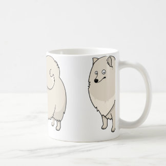 finnish spitz cartoon coffee mug