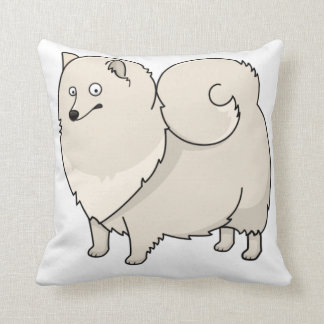finnish spitz cartoon throw pillow